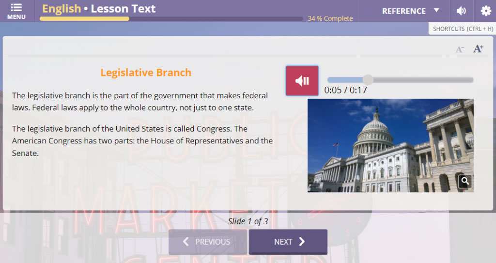 Transparent Language Citizenship Test screenshot