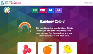 Screenshot of Rainbow Colors content area
