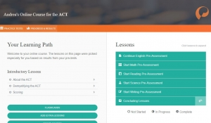 Screenshot of ACT Online Course