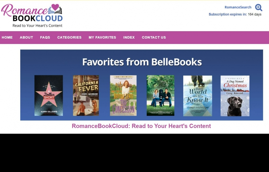 RomanceBookCloud_Favorites from Bell Books screenshot