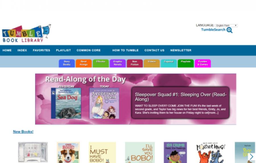 TumbleBook Library homepage