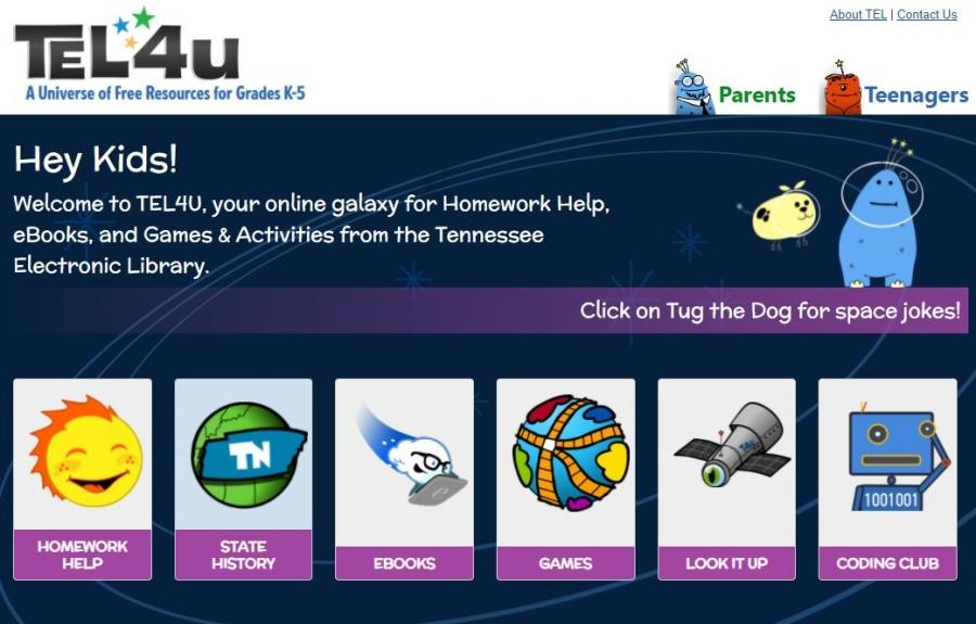 TEL4U.org homepage