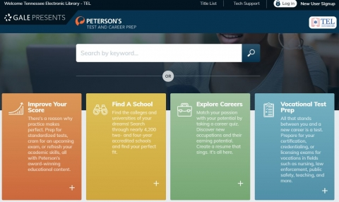 Test and Career Prep homepage